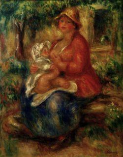 """Auguste Renoir """"Aline Charigot, stillend"""" 40 x 51 cm"""