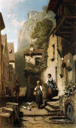 "Carl Spitzweg ""Der Husar"" 53 x 32 cm"
