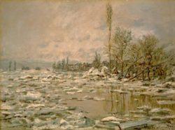 "Claude Monet ""Eisbruch trübes Wetter"" 90 x 68 cm"