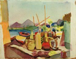 "August Macke ""Landschaft bei Hammamet"" 27 x 21 cm"