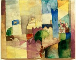 "August Macke ""Kairouan III"" 29 x 23 cm"