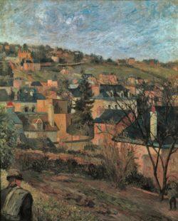 """Paul Gauguin """"Die blauen Dächer (Les toits bleus)""""  60 x 74 cm"""