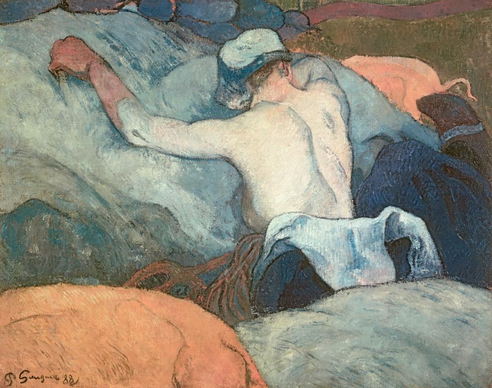 "Paul Gauguin ""Im Heu""  92 x 73 cm"
