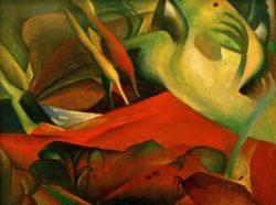 "August Macke ""Sturm"" 113 x 84 cm"