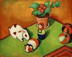 """August Macke """"Walterchens Spielsachen"""" 60 x 50 cm"""