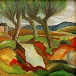"""August Macke """"Weiden am Bach"""" 51 x 51 cm"""