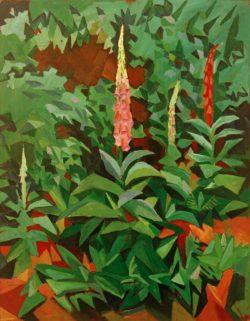 """August Macke """"Fingerhüte im Garten"""" 80 x 103 cm"""