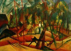 "August Macke ""Waldspaziergang"" 106 x 81 cm"