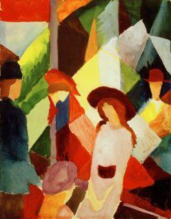 """August Macke """"Schaufenster"""" 23 x 29 cm"""