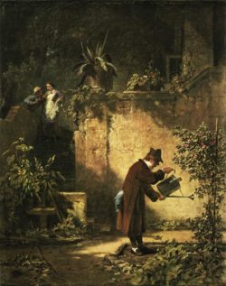"Carl Spitzweg ""Der Gartenfreund"" 48 x 32 cm"