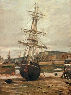 "Claude Monet ""Auf Kiel gelegtes Schiff in Fecamp"" 46 x 61 cm"