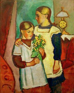 """August Macke """"Zwei Schwestern"""" 82 x 104 cm"""