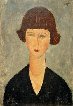 "Amedeo Modigliani ""Junge Brünette"" 55 x 38""cm"