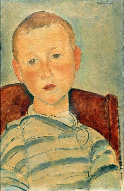 """Amedeo Modigliani """"Junge mit gestreiftem Pullover"""" 45 x 30″cm 1"""