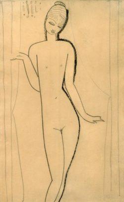 "Amedeo Modigliani ""Nacktes junges Mädchen – Karyatide"" 43 x 26""cm"