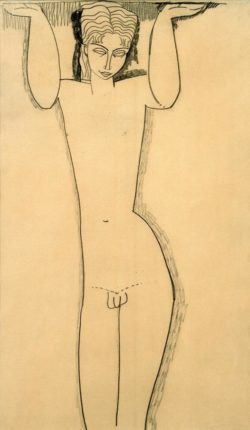 """Amedeo Modigliani """"Nackter junger Mann (Atlas)"""" 43 x 26""""cm"""
