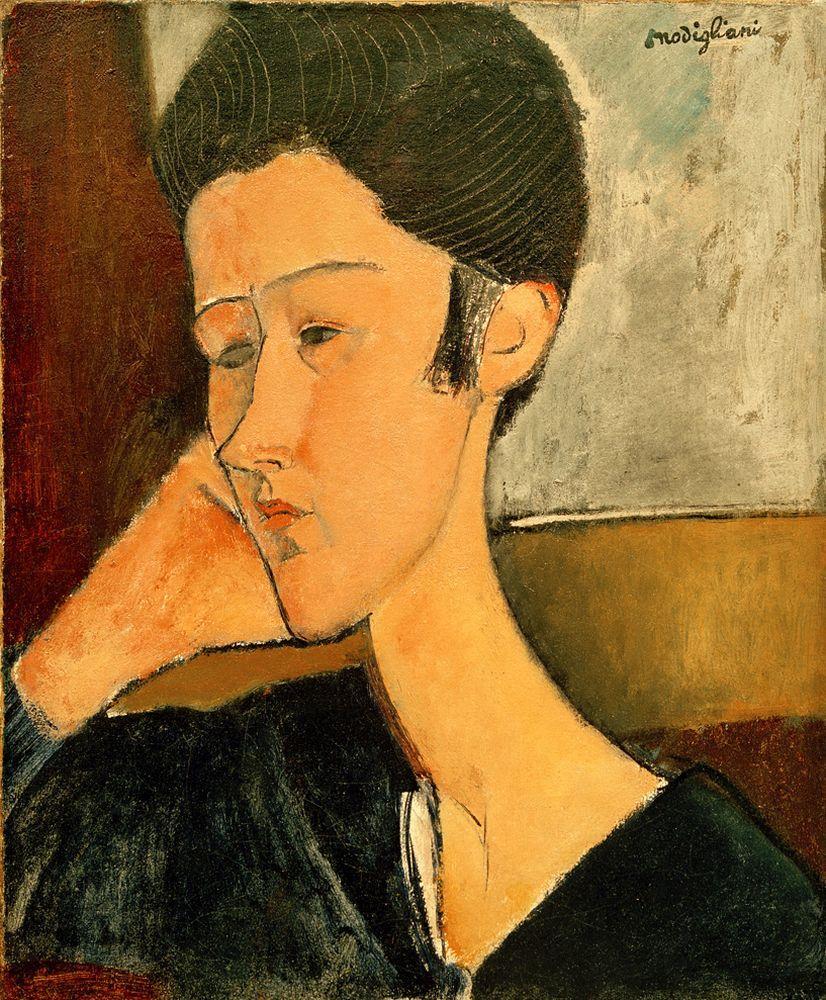 """Amedeo Modigliani """"Hanka Zborowska"""" 47 x 39""""cm"""