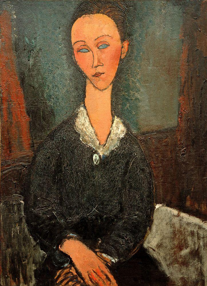 """Amedeo Modigliani """"Frau mit weißem Kragen (Lunia Czechowska)"""" 81 x 60""""cm"""