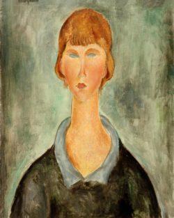 """Amedeo Modigliani """"Porträt einer jungen Frau"""" 65 x 50""""cm"""
