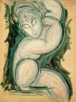 "Amedeo Modigliani ""Karyatide"" 61 x 46""cm"