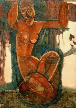 """Amedeo Modigliani """"Cariatide"""" 73 x 50""""cm"""