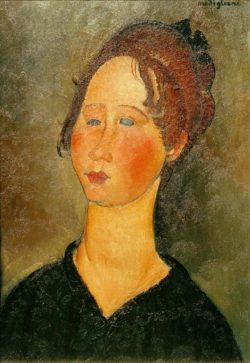 """Amedeo Modigliani """"La Bourguignonne"""" 55 x 38""""cm"""