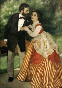 """Auguste Renoir """"Das Ehepaar Sisley"""" 75 x 105 cm"""