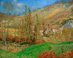 """Claude Monet """"Val de Falaise -Giverny im Winter"""" 80 x 65 cm"""