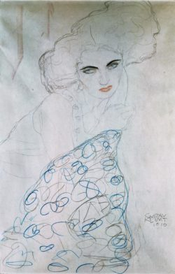 "Gustav Klimt ""Studie zu Damenporträt"" 37 x 56 cm"