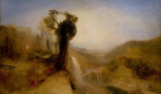 """William Turner """"Südliche Landschaft mit Aquädukt und Wasserfall"""" 150 x 249 cm 1"""