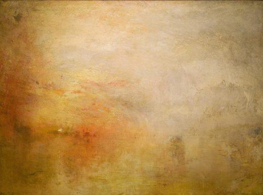 """William Turner """"Sonnenuntergang über See"""" 91 x 123 cm 1"""