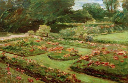 """Max Liebermann """"Die Blumenterrasse im Wannseegarten nach Nordosten"""" 90 x 61 cm 1"""