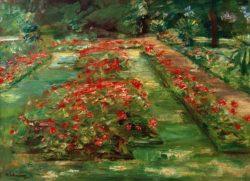 """Max Liebermann """"Die Blumenterrasse im Wannseegarten nach Norden"""" 76 x 55 cm"""