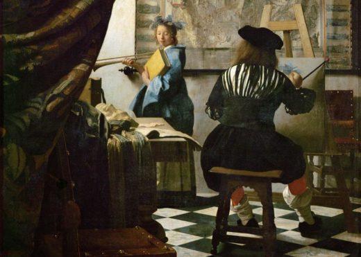 """Jan Vermeer """"Die Malkunst (Ausschnitt)"""" 100 x 120 cm 1"""