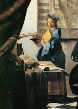 """Jan Vermeer """"Die Malkunst (Ausschnitt)"""" 100 x 120 cm"""