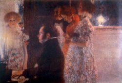 """Gustav Klimt """"Schubert am Klavier"""" 200 x 150 cm"""