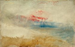 "William Turner ""Roter Himmel über einem Strand"" 31 x 48 cm"