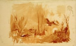 "William Turner ""Bewaldete Landschaft"" 23 x 38 cm"