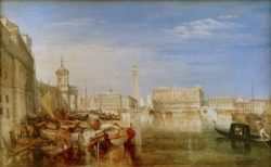 "William Turner ""Canaletto beim Malen"" 51 x 82 cm"