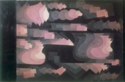 """Paul Klee """"Fuge in Rot"""" 37 x 25 cm"""
