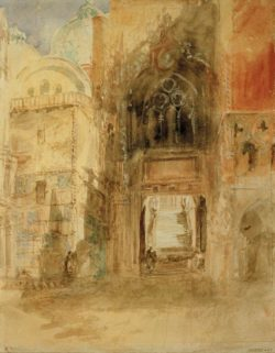 "William Turner ""Venedig, Porta della Carta"" 31 x 23 cm"