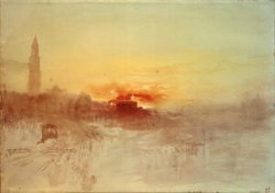 "William Turner ""Venedig, Bacino S. Marco Sonnenaufgang"" 20 x 28 cm"