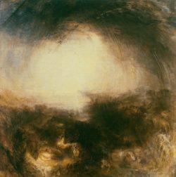 """William Turner """"Schatten und Dunkelheit (Der Abend nach der Sintflut)"""" 79 x 78 cm"""