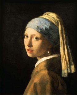 """Jan Vermeer """"Das Mädchen mit der Perle"""" 40 x 47 cm"""