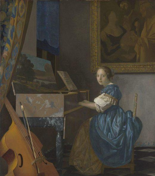 """Jan Vermeer """"Sitzende Virginalspielerin"""" 46 x 52 cm 1"""