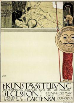 "Gustav Klimt ""Plakat der I. Secession"" 43 x 62 cm"