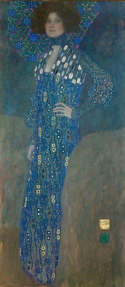 """Gustav Klimt """"Fräulein Emilie Flöge"""" 84 x 181 cm"""