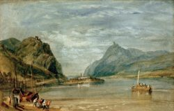 "William Turner ""Rolandseck Nonnenwerth und Drachenfels"" 20 x 30 cm"
