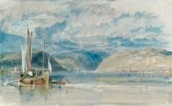 """William Turner """"Rüdesheim Blick auf das Binger Loch"""" 21 x 35 cm"""