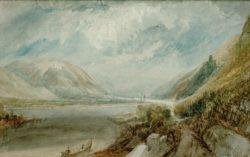 """William Turner """"Die Einmündung der Lahn"""" 20 x 31 cm"""